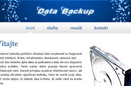 Data Backup - Bezpečné zálohovanie a obnova dát | Web dizajn + HTML & CSS