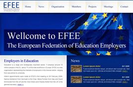 EFEE - The European Federation of Education Employers | Web dizajn + HTML & CSS