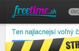 Freetime - Ten najlacnejší voľný čas | Web dizajn + HTML & CSS