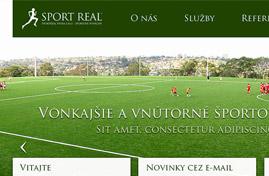 SportReal Nitra | Web, logo, print dizajn + HTML & CSS